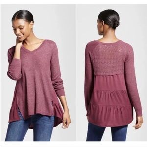 Knox Rose Knit Tunic Sweater Long Sleeved …